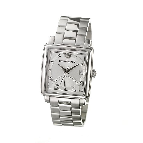 Emporio Armani men's stainless steel date dial watch