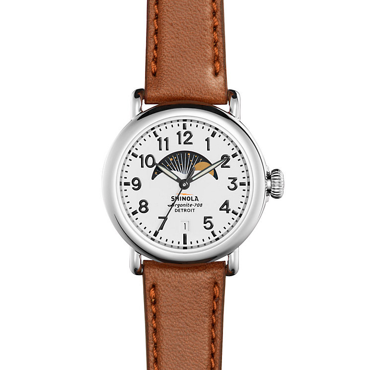 Shinola Runwell Ladies' Stainless Steel Strap Watch - Product number 5696453