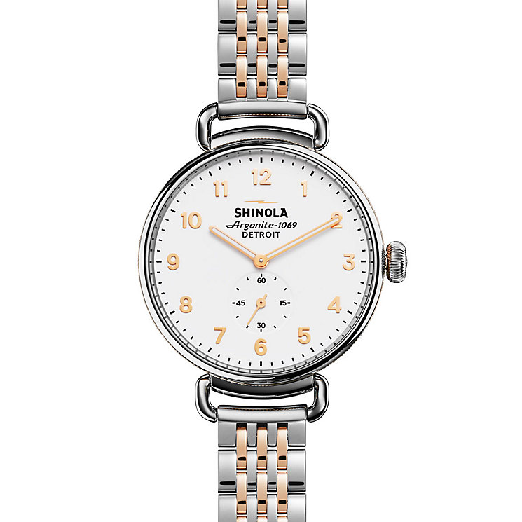 Shinola Canfield Ladies' Two Colour Strap Watch - Product number 5696526