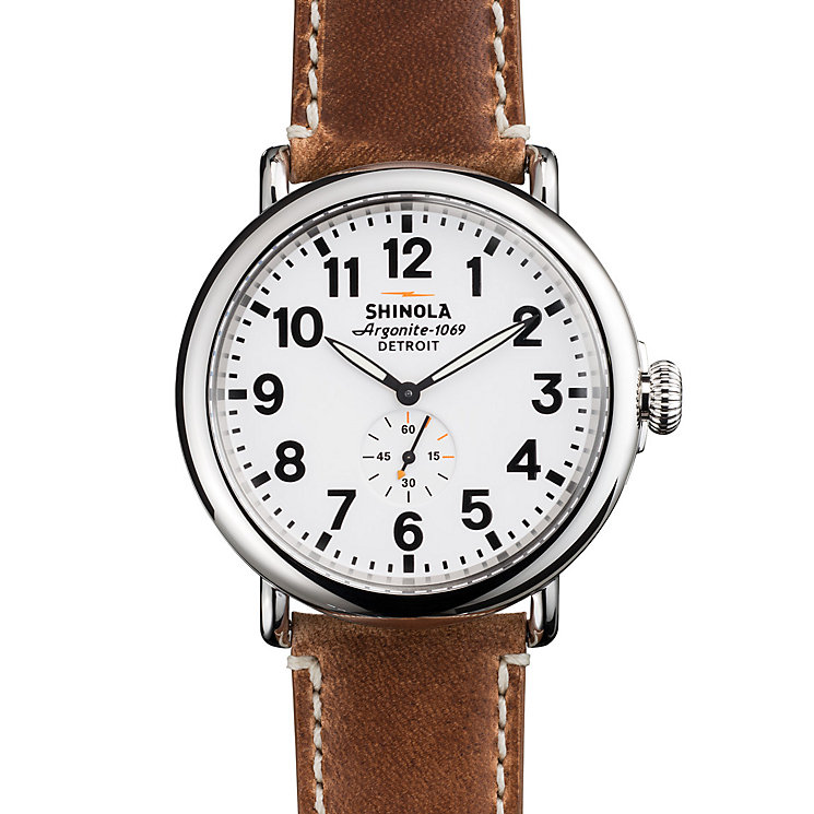Shinola Runwell Men's Stainless Steel Strap Watch - Product number 5696542