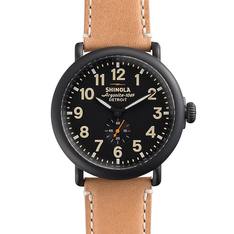 Shinola Runwell Men's Ion Plated Strap Watch - Product number 5696550