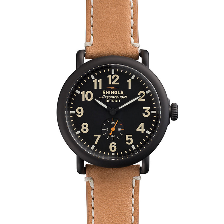 Shinola Runwell Men's Ion Plated Strap Watch - Product number 5696615