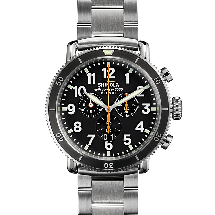 Shinola Runwell Sport Men's Stainless Steel Strap Watch - Product number 5696682