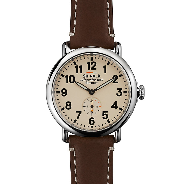 Shinola Runwell Men's Stainless Steel Strap Watch - Product number 5696712