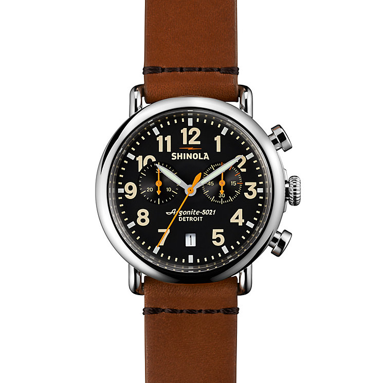 Shinola Runwell Men's Stainless Steel Strap Watch - Product number 5696763