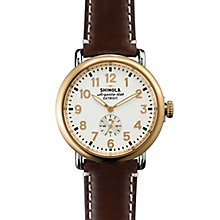 Shinola Runwell Men's Gold Plated Strap Watch - Product number 5696828
