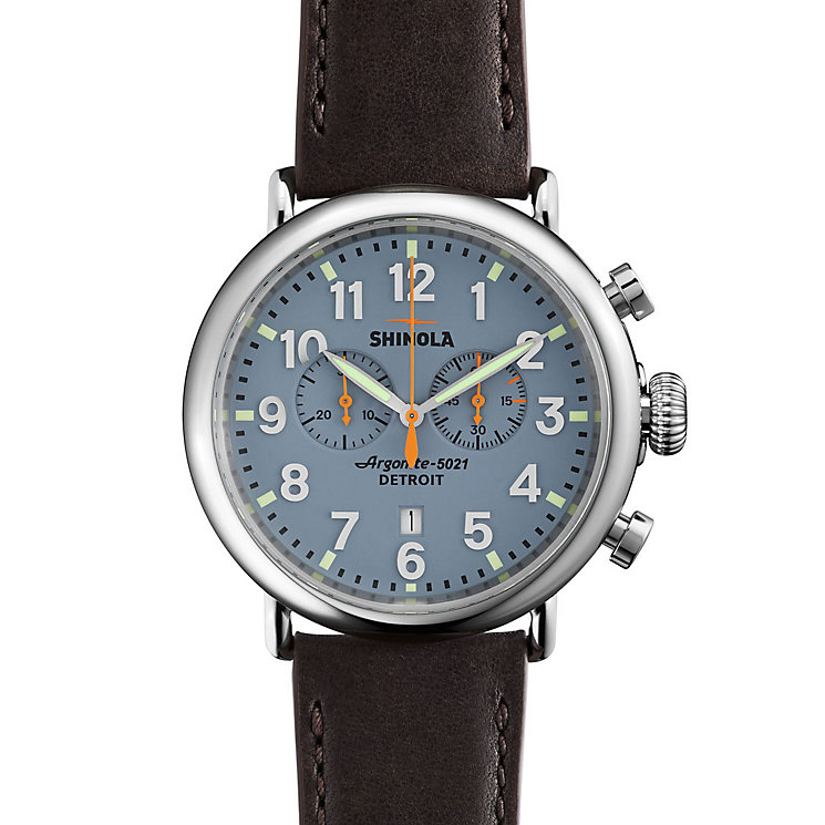 Shinola Runwell Men's Stainless Steel Strap Watch - Product number 5696836