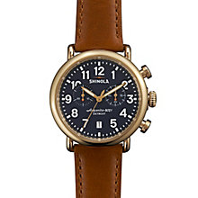Shinola Runwell Men's Gold Plated Strap Watch - Product number 5696852