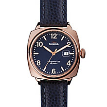 Shinola Brakeman Men's Rose Gold Plated Strap Watch - Product number 5696879