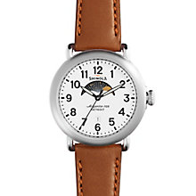 Shinola Runwell Moon Phase Men's Stainless Steel Strap Watch - Product number 5696895