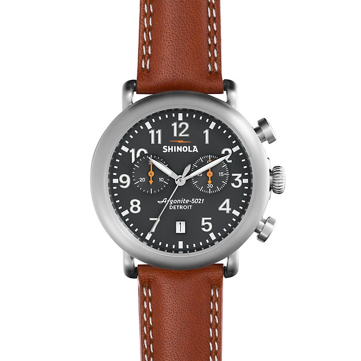 Shinola Runwell Men's Stainless Steel Strap Watch - Product number 5696909