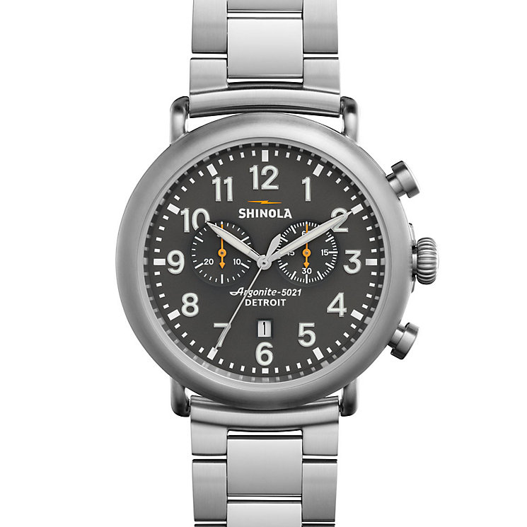 Shinola Runwell Men's Stainless Steel Bracelet Watch - Product number 5696925