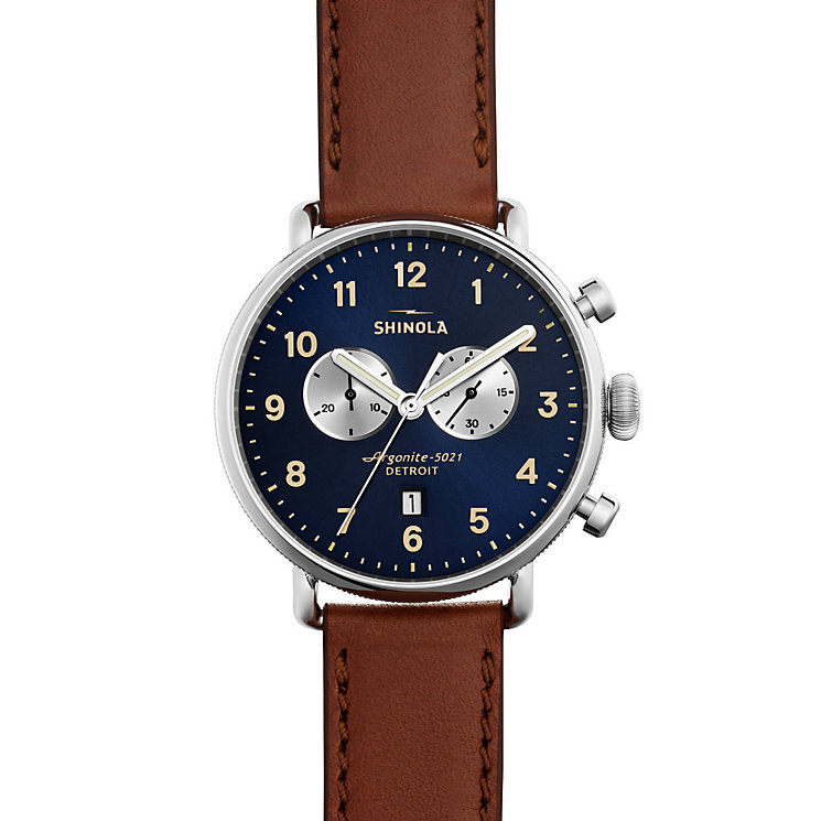 Shinola Canfield Men's Stainless Steel Strap Watch - Product number 5696941