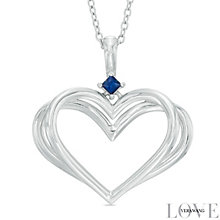 Vera Wang Silver Sapphire Heart Pendant - Product number 5697018