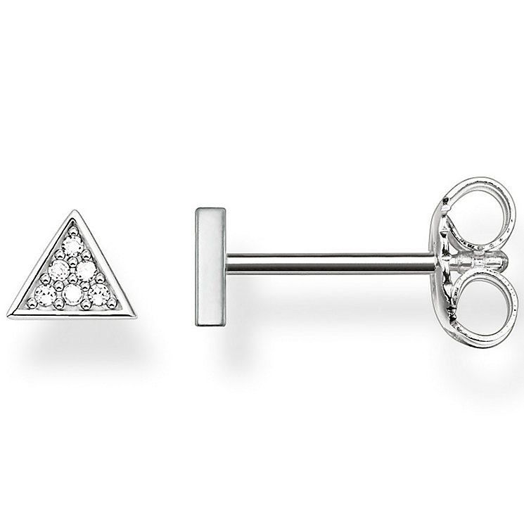 Thomas Sabo Sterling Silver Triangular Diamond Stud Earrings - Product number 5697840