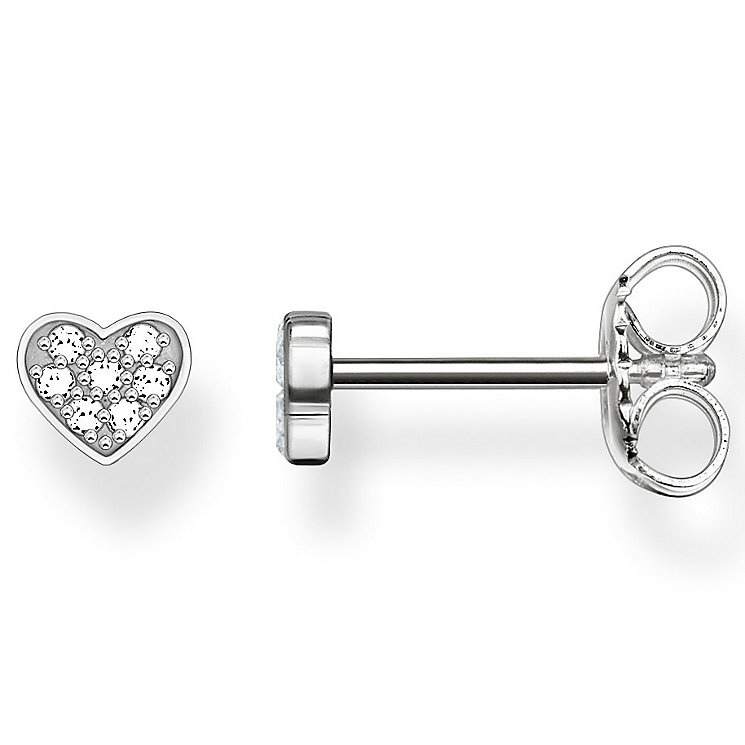 Thomas Sabo Sterling Silver Diamond Heart Stud Earrings - Product number 5697859