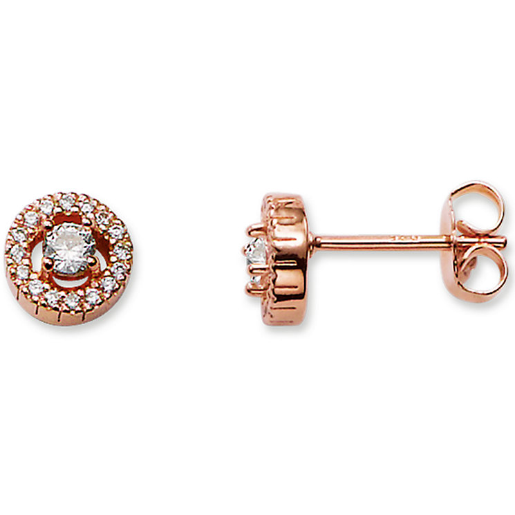 Thomas Sabo Rose Gold Plated Stone Set Studs - Product number 5697972