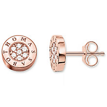 Thomas Sabo Rose Gold Plated Stone Set Studs - Product number 5697980