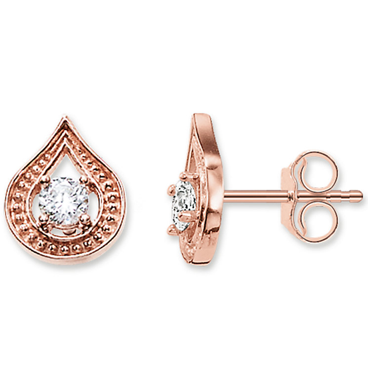 Thomas Sabo Rose Gold Plated Stone Set Stud - Product number 5698030