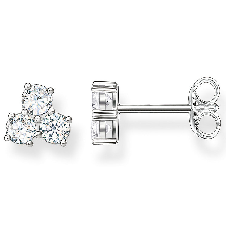 Thomas Sabo Sterling Silver Classic Stone Set Stud Earrings - Product number 5698081