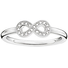 Thomas Sabo Sterling Silver Eternal Diamond  Ring Size M - Product number 5698111