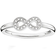 Thomas Sabo Sterling Silver Eternal  Diamond Ring Size O - Product number 5698138