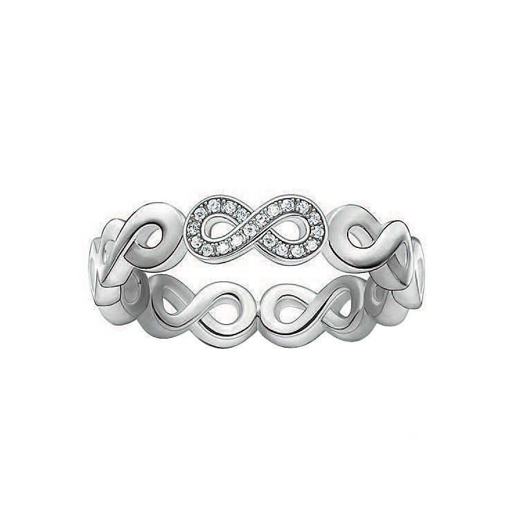 Thomas Sabo Sterling Silver Eternal Diamond Ring Size M - Product number 5698162
