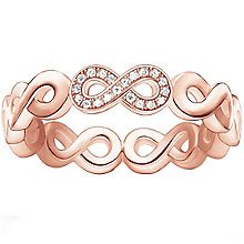 Thomas Sabo Rose Gold Plated  Eternal Diamond Ring Size M - Product number 5698189