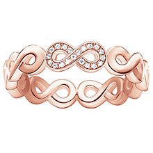 Thomas Sabo Rose Gold Plated Eternal Diamond Ring Size O - Product number 5698197