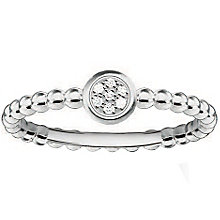 Thomas Sabo Sterling Silver Round Diamond Ring Size O - Product number 5698219