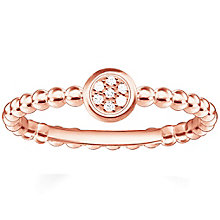 Thomas Sabo Rose Gold Plated Round Diamond Ring Size M - Product number 5698227