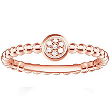 Thomas Sabo Rose Gold Plated Round Diamond Ring Size O - Product number 5698235