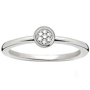 Thomas Sabo Sterling Silver Diamond Ring Size O - Product number 5698286