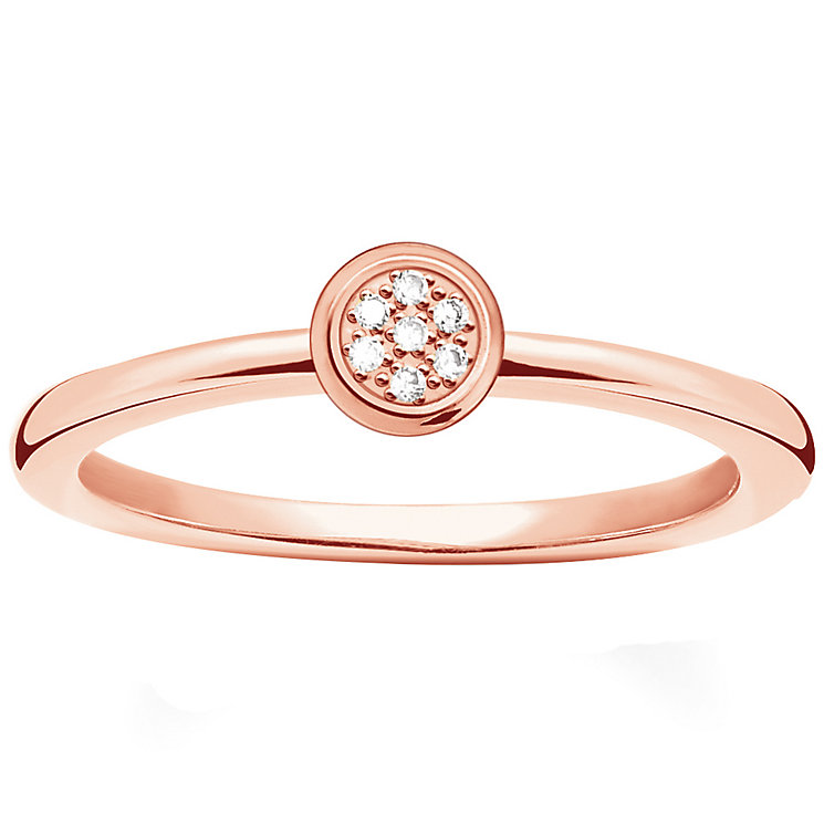 Thomas Sabo Rose Gold Plated Diamond Ring Size M - Product number 5698294