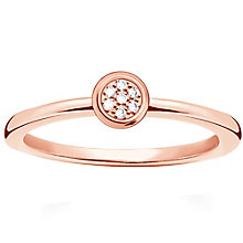 Thomas Sabo Rose Gold Plated Diamond Ring Size O - Product number 5698308