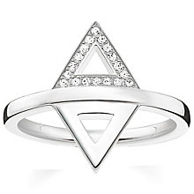 Thomas Sabo Sterling Silver Triangular Diamond Ring Size M - Product number 5698332