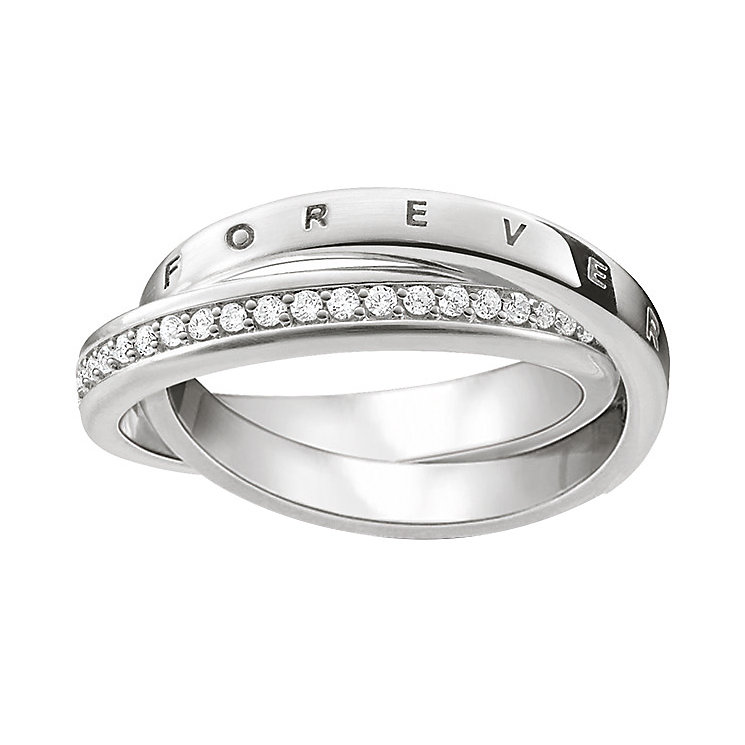 Thomas Sabo Sterling Silver Stone Set Ring Size P - Product number 5698480