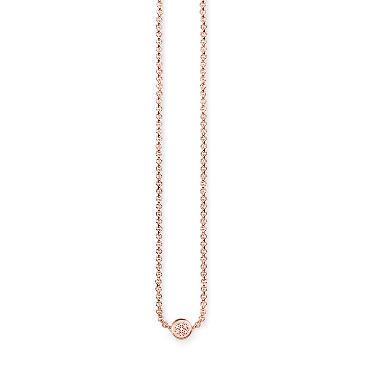 Thomas Sabo Rose Gold Plated Diamond Necklace - Product number 5698669