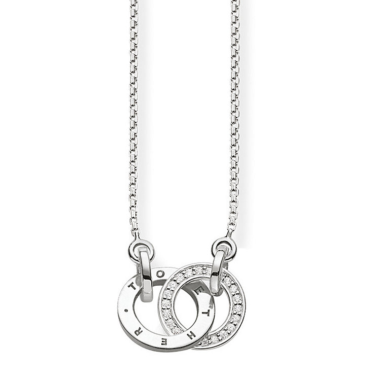 Thomas Sabo Sterling Silver Interlocking Diamond Necklace - Product number 5698677