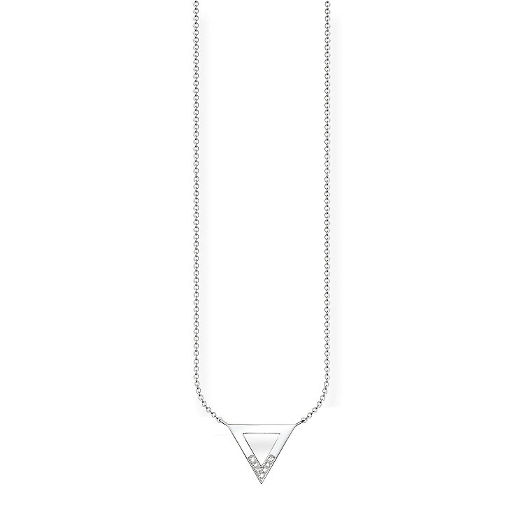 Thomas Sabo Sterling Silver Triangular Diamond Necklace - Product number 5698693