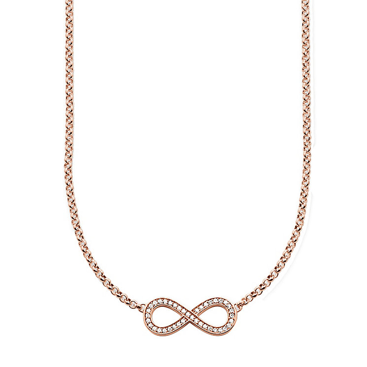 Thomas Sabo Rose Gold Plated Stone Set Necklace - Product number 5698758