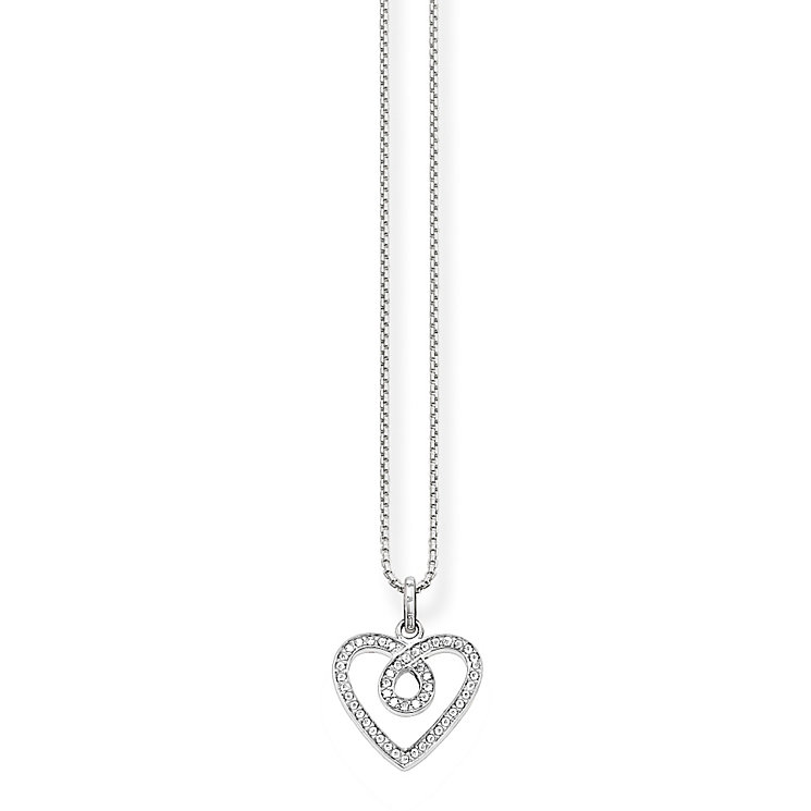 Thomas Sabo Sterling Silver Stone Set Heart Necklace - Product number 5698804