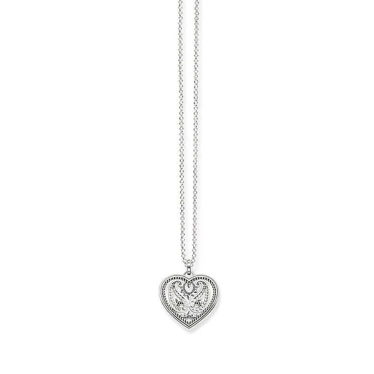 Thomas Sabo Sterling Silver Heart Stone Set Necklace - Product number 5698855