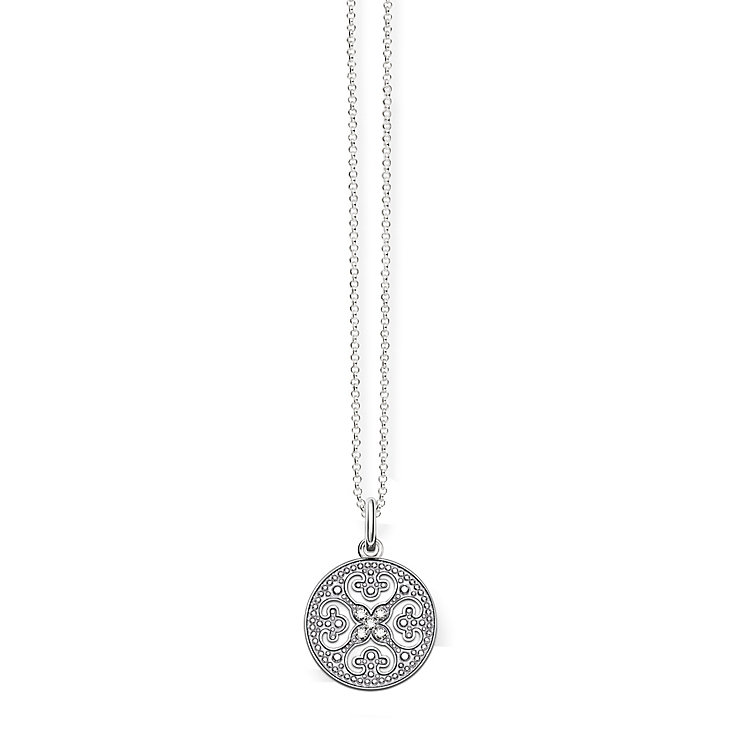 Thomas Sabo Sterling Silver Filigree Round Necklace - Product number 5698944