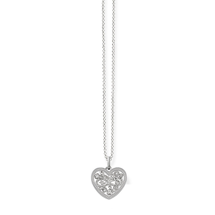 Thomas Sabo Sterling Silver Filigree Heart Necklace - Product number 5698952