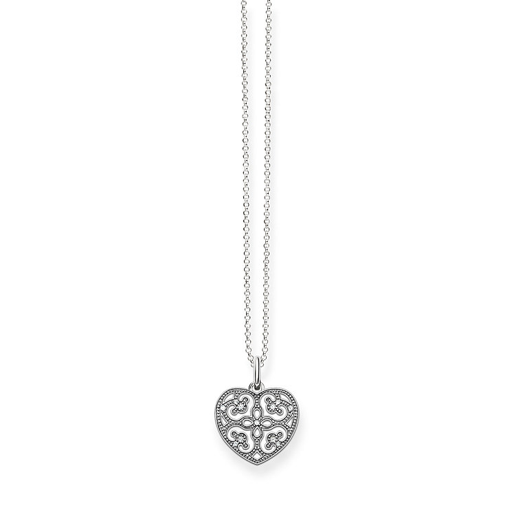 Thomas Sabo Sterling Silver Filigree Heart Necklace - Product number 5698960
