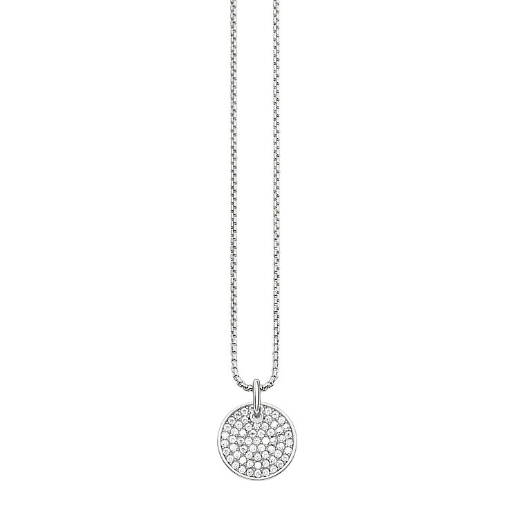 Thomas Sabo Stone Set Disc Charm Necklace - Product number 5698987
