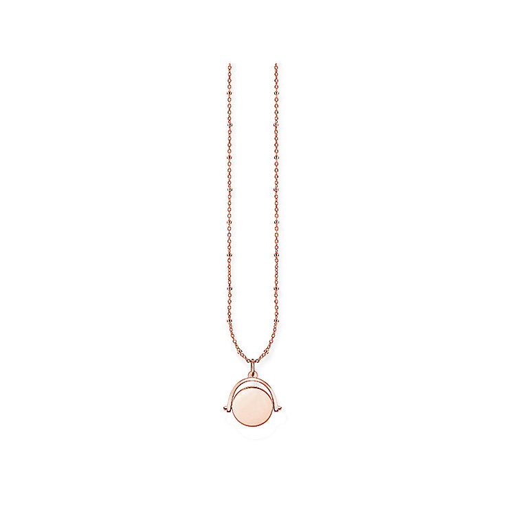 Thomas Sabo Rose Gold Plated Love Engravable Necklace - Product number 5699002