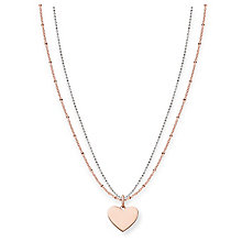 Thomas Sabo Rose Gold Plated Love Engravable Heart Necklace - Product number 5699037