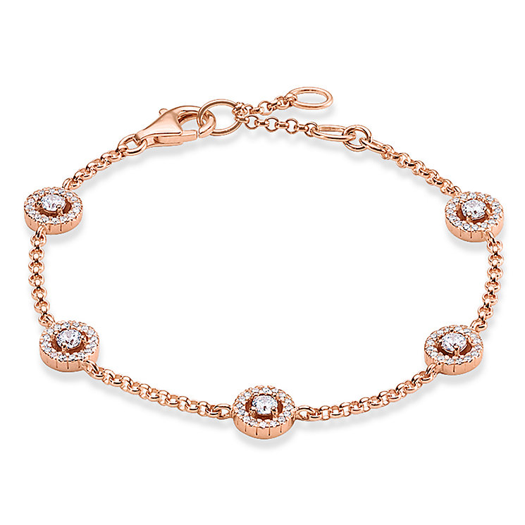 Thomas Sabo Rose Gold Plated Stone Set Bracelet - Product number 5699053